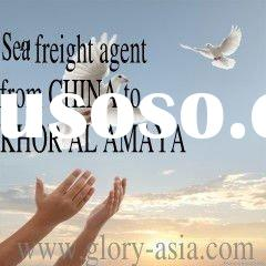 Professional sea freight agent from CHINA to KHOR AL AMAYA