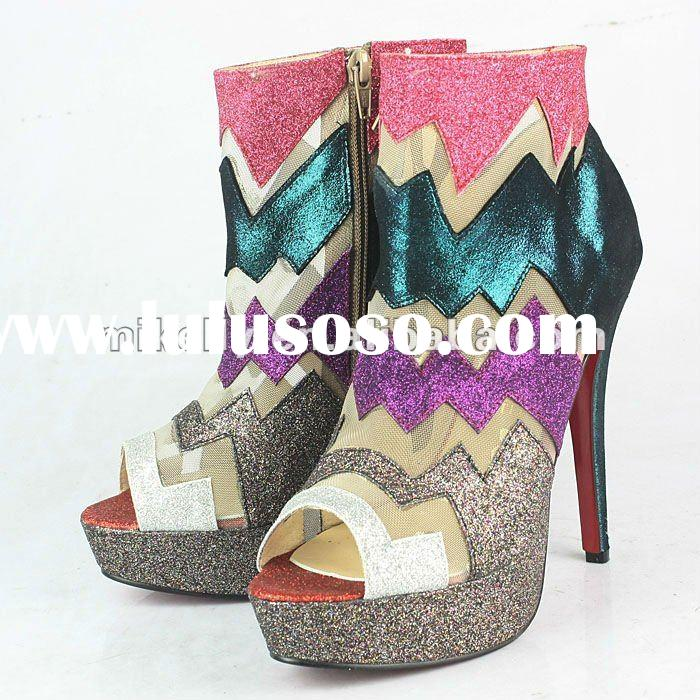 Red sole dress boots high heels shoes hot sale 2012