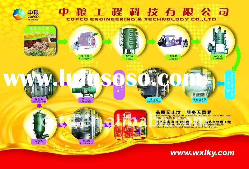 Rice bran oil pretreatment, pressing/extraction and refining complete set of machine/equipment