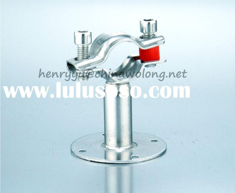 Sanitary Stainless Steel Pipe Support with Base