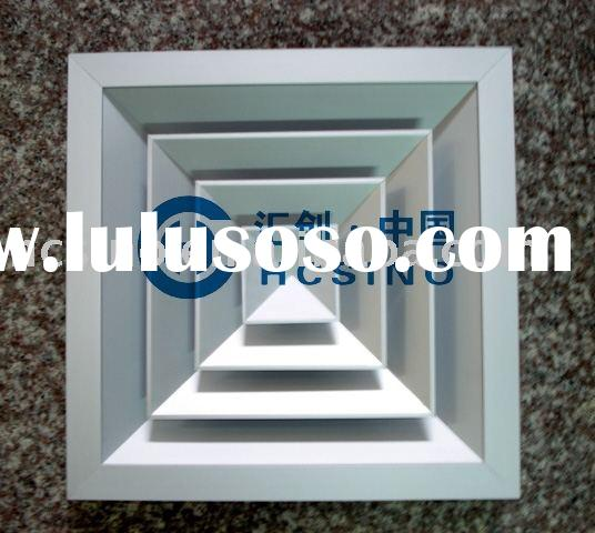 Square Ceiling Diffuser (air diffuser, air grille, air outlet,air louver, air register, aluminum pla