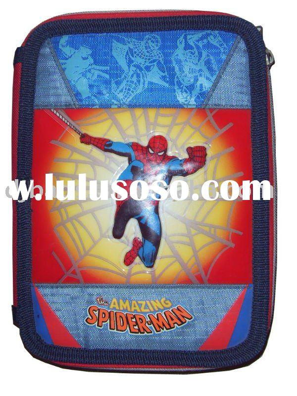 Stationery pencil case for boy with spider man design