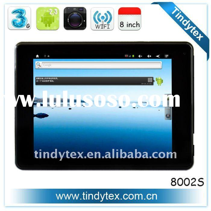 The most popular hot sell new arrived android 2.3 3g/WIFI 8 inch touch screen tablet pc
