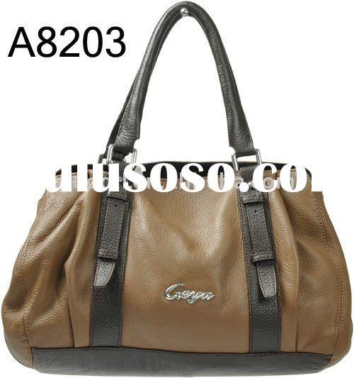 Very Hot selling design 100% Leather Lady Handbags