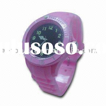 Waterproof silicone watch