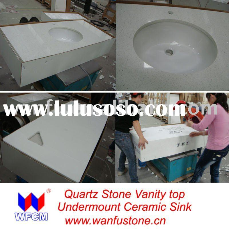 White Quartz Stone Countertop