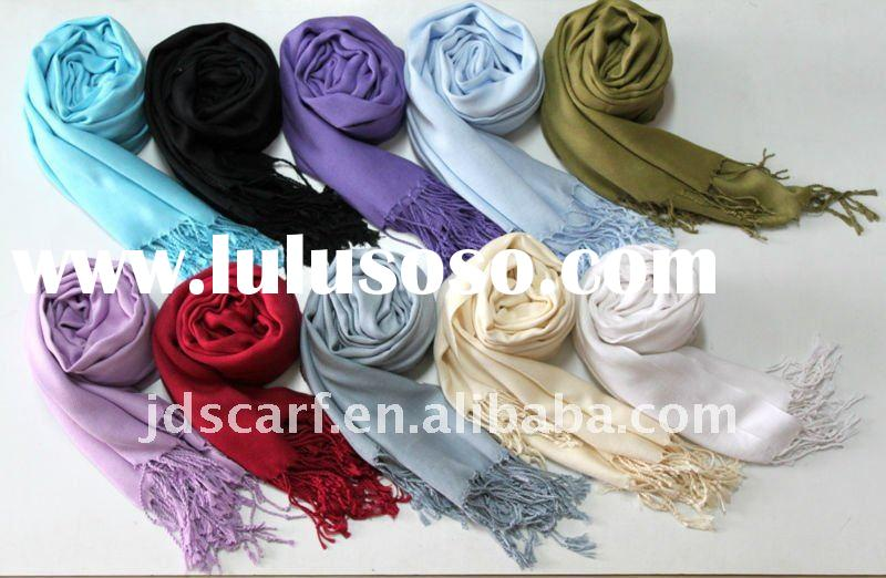Wholesale by factory directly, Solid color Pashmina scarf made 100% viscose, high quality and touch