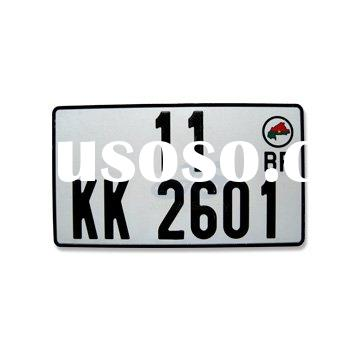 auto number plate with hologram and laser watermark