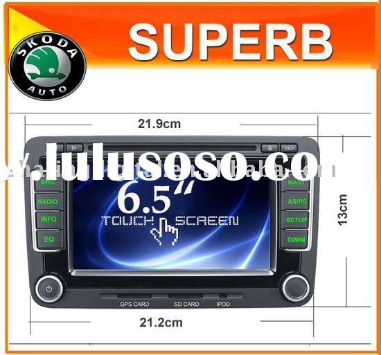 built in Can bus car DVD player gsp bluetooth for SKODA OCTAVIA 2