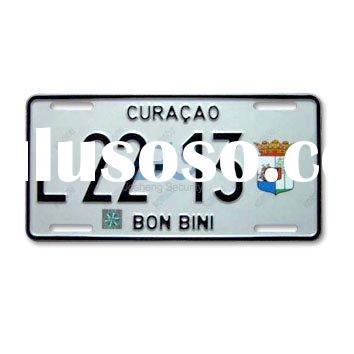 car number plate with hologram and laser watermark
