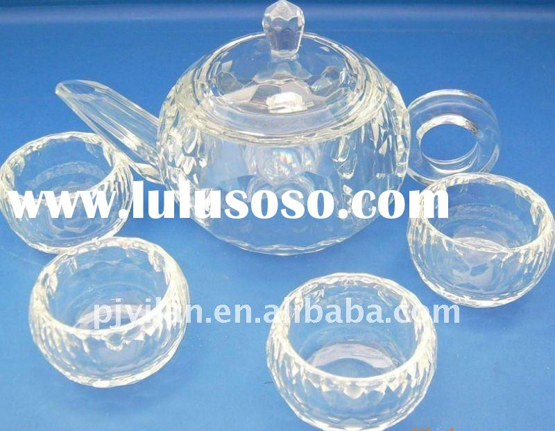 clear glass crystal dinnerware set