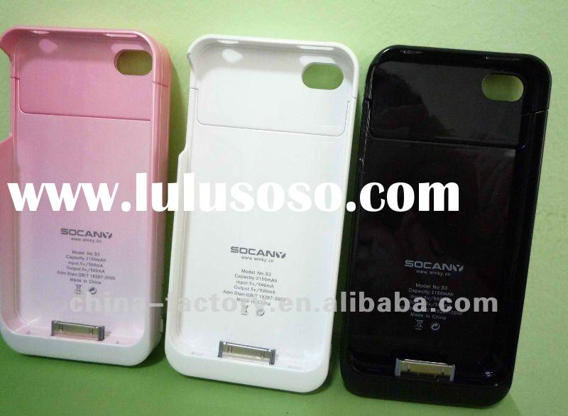 external battery power pack case for iphone 4---5 Years warranty
