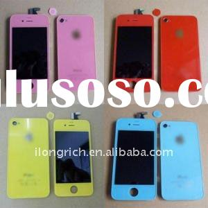 for iPhone 4 color colour digitizer glass LCD assembly back cover kit