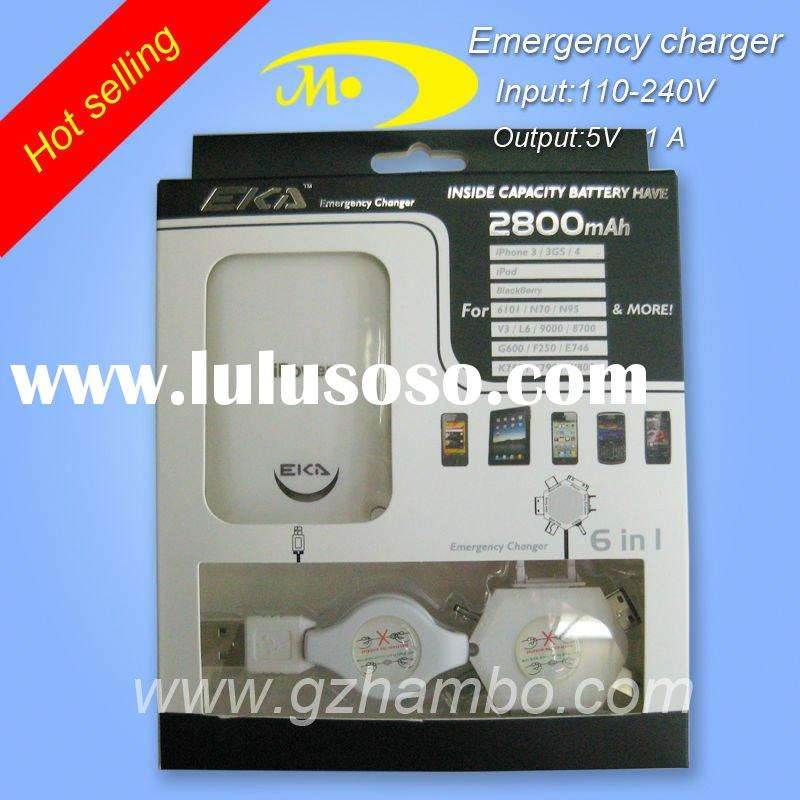for iphone emergency portable mobile phone charger