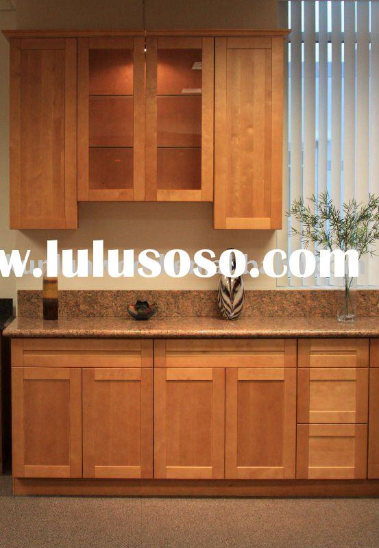 maple shaker solid wood kitchen cabinet