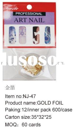 nail art nail stone gold foil NJ-47