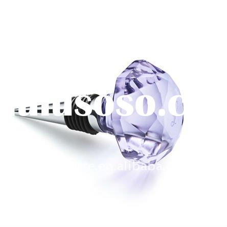personalized crystal wine bottle stopper for corporate gift JS0036-YH