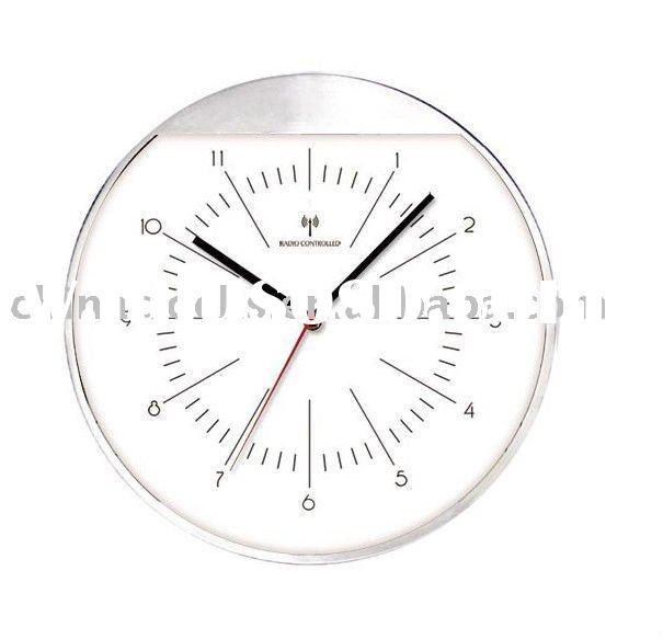 radio controlled wall clock with high quality for sale