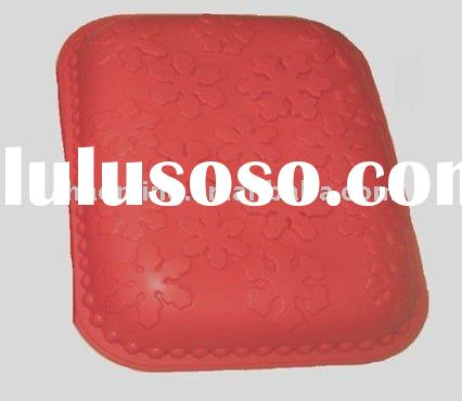 red color square shape Silicone Cake Mold