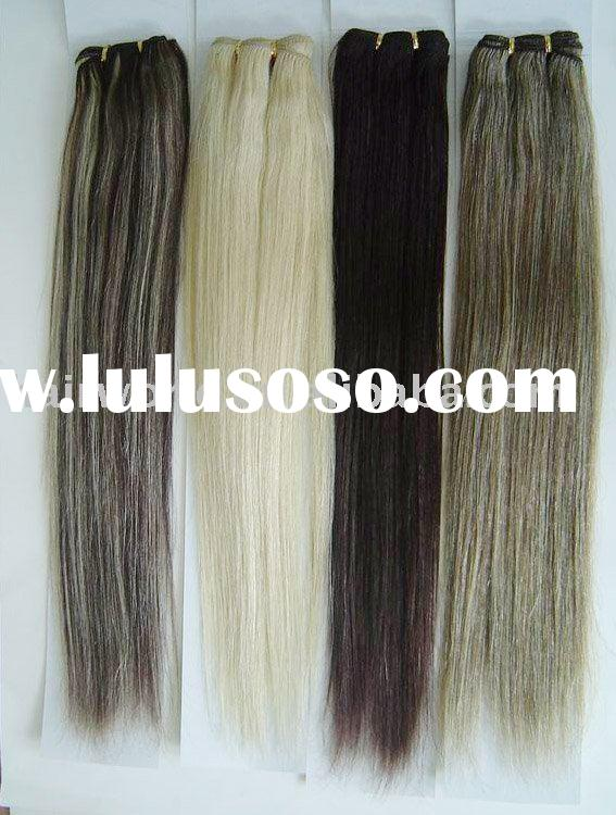remy hair weft(mix color)