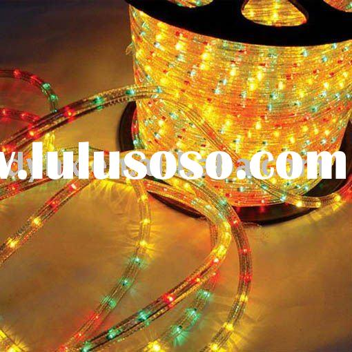 round two wires led rope ,outdoor decorative ,220-240v led rope light