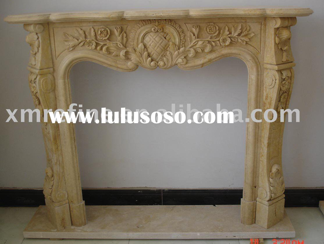 yellow marble fireplace mantels