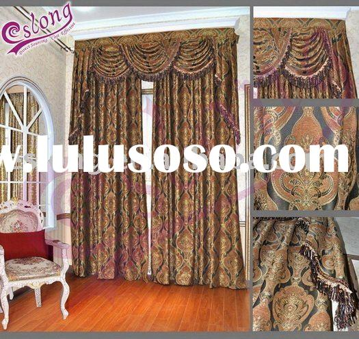 00% Polyester Jacquard Window Curtains(home textile)