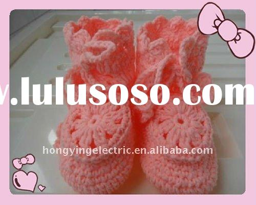 100% hand knit baby shoes