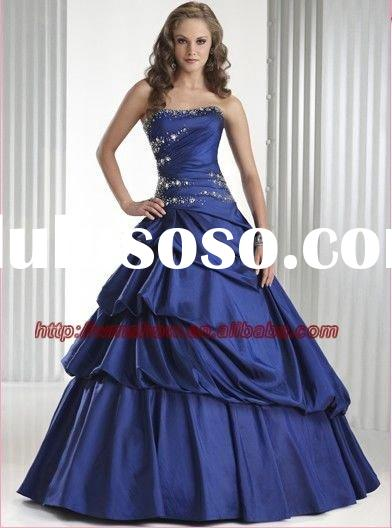 2011 Latest Design Strapless Ball Gown Diamond Prom Dresses