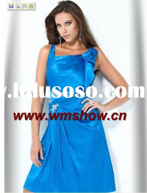 2011 Latest Modern Beautiful Spaghetti Strap Blue Usa Evening Dress