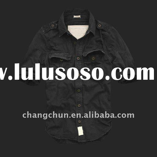 2011 fashionable and latest men's washed shirt