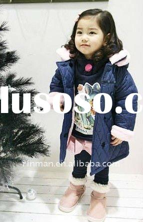 2011 winter coats han edition fashion girl child grows thick cotton-padded clothes wholesale childre