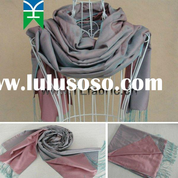 2012 New 100% Silk Yarn Dyed Fashion Shawl (E111123-1) Popular in Turkey