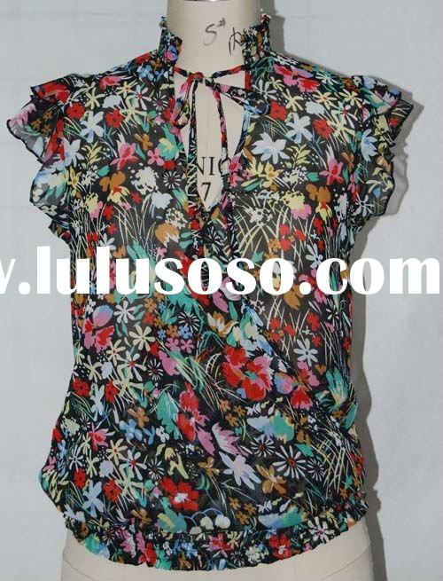 2012 fashion ladies beautiful fancy blouse