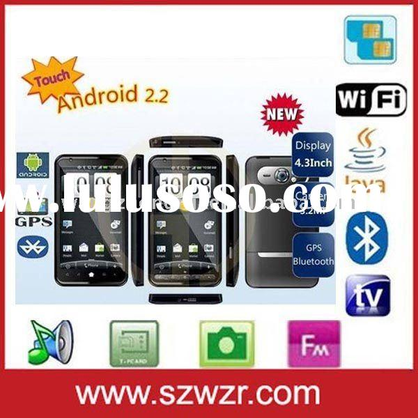 4.3 inch android 2.2 W1000 unlocked GSM cell phone with WIFI TV JAVA