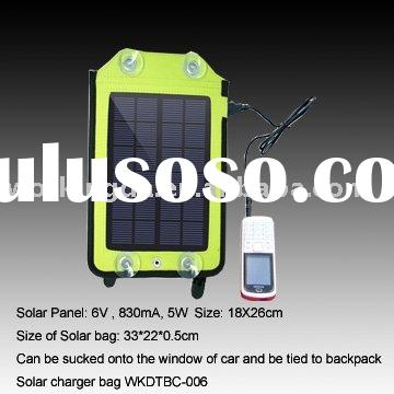 5W waterproof portable Solar Car Charger backpack charger