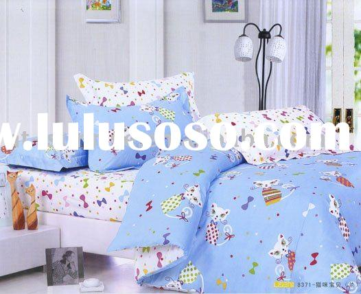 Cat baby design 100%cotton pigment printing 4pcs bedding set(MMBB)