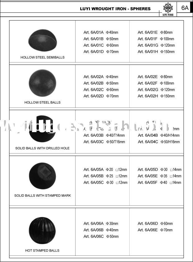 Decorative Wrought Iron Hollow Steel Balls