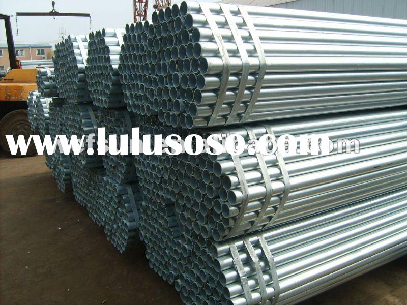 ERW hot-dip galvanized steel square/round pipe/tube