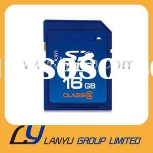 Factory price Real capacity class6 16gb sd memory cards wholesale,mobile memory card 16gb