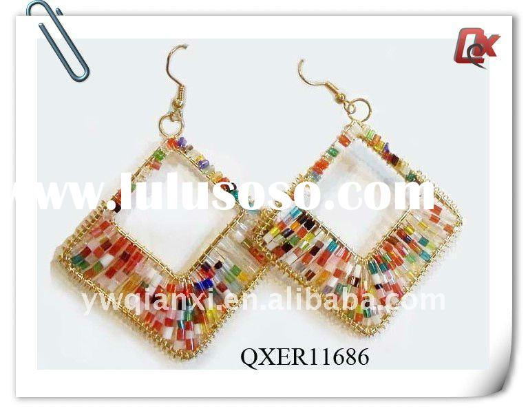 Fashion seed bead earring designs (QXER11686)