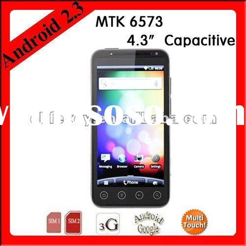 "H5000 MTK 6573 4.3"" Capacitive Android 2.3 3G Smartphone"
