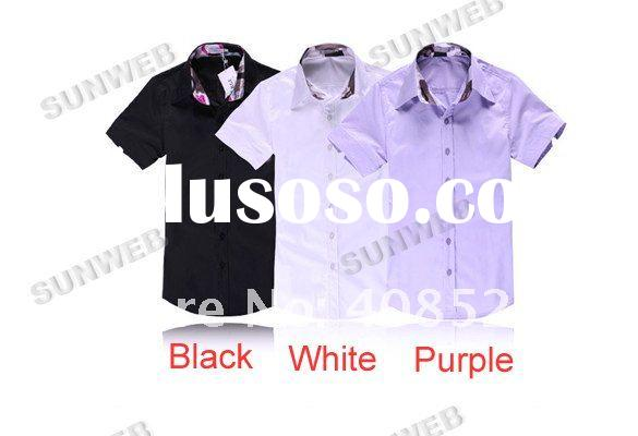 Men's Casual Slim fit Stylish Dress Short Sleeve Shirts