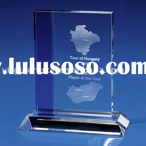 Optical Crystal Laser Engraved Sports Plaque Award