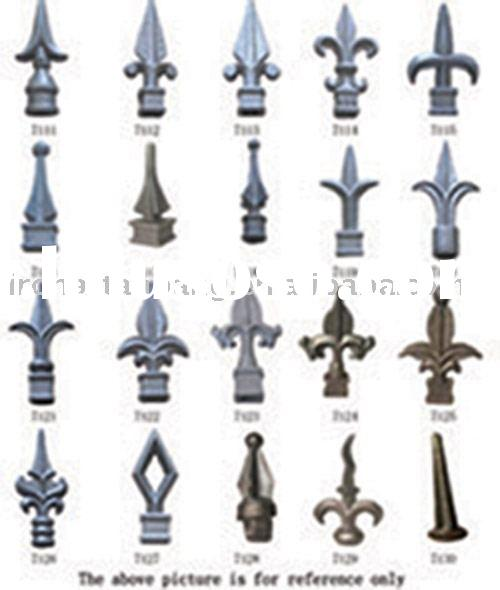 Ornamental Iron Fence Finials,Cast Iron Spearhead,Lanceted Cast Iron Fitting
