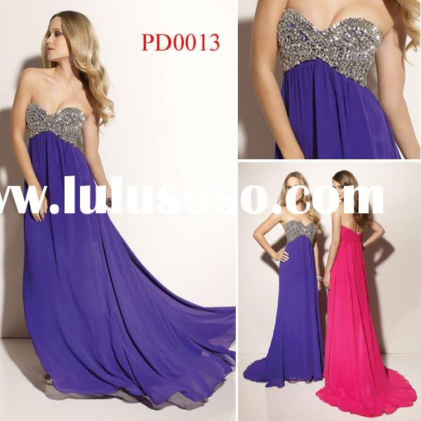 PD0013 Hot Sale Off-Shoulder Evening Dress