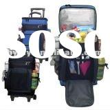 Portable 600D Polyester trolley ice bags with wheels