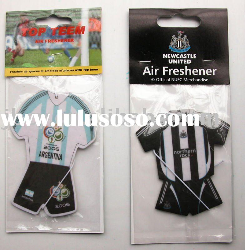 club sports t-shirt / mini sports t-shirt air freshener