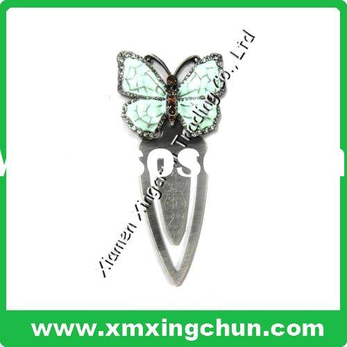 hot sell metal butterfly paper clip for promotion