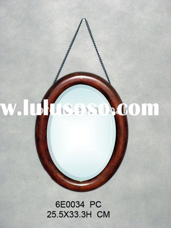 oval bath wall mirror